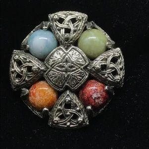 Ornate vintage Celtic design Brooch